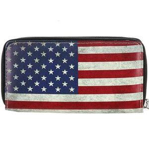 Handbags - American Flag Double Zipper Wallet/ Clutch